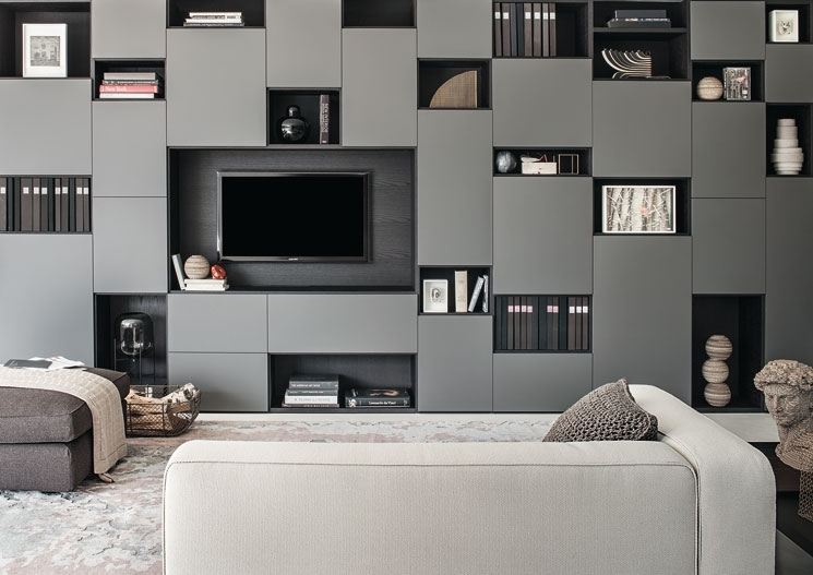 Actual spotti showroom librerie componibili modulari selecta by